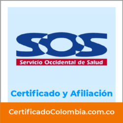 Descargar Certificado SOS Servicio Occidental de Salud