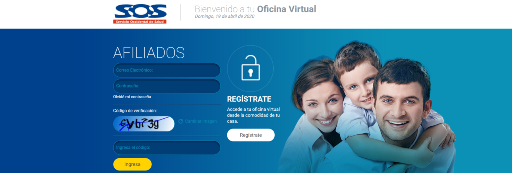 Oficina virtual Servicio occidental de salud - Descargar Certificado SOS