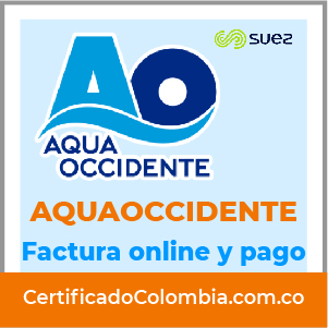 Aquaoccidente descargar factura y pagar por internet