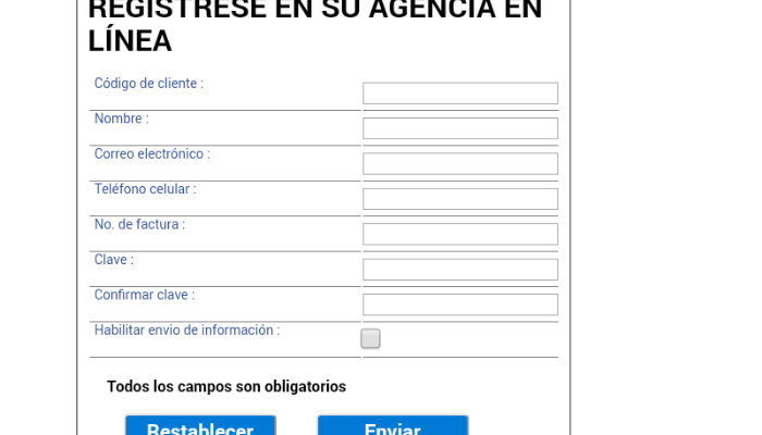 Aquaoccidente descargar factura y pagar por internet - Registro agencia virtual